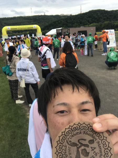 スタッフブログ 理学療法士の一年 写真1「オホーツク網走マラソン完走!」