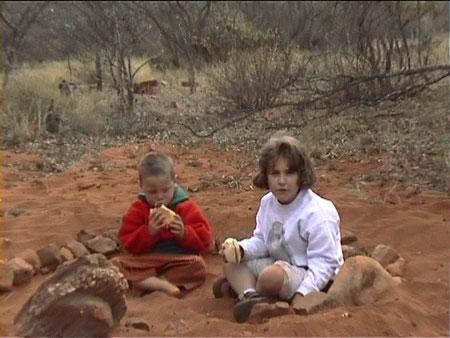 Tanti anni fa...Carlotta con un amico africano