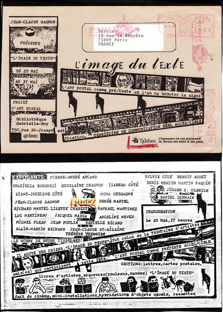 Carton d'invitation expo IMAGE DU TEXTE