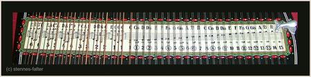 deutsche 4-chörige Besaitung einer 6-Akkord-Mandolin-Zither - Melodiesaiten doppelt - Tonleiter vollchromatisch