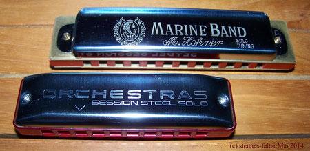 Hohner Mundharmonika Marine Band vs Seydel OrchestraS