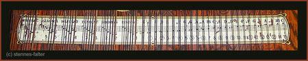 deutsche 7-chörige Besaitung einer 6-Akkord-Mandolin-Zither - Melodiesaiten doppelt - Tonleiter vollchromatisch