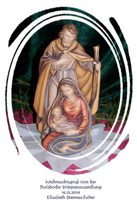 Weihnachtsgruß von der Roisdorfer Krippenausstellung am 14.12.2014