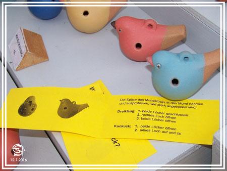 """Keramikwerkstatt """"Ton und Töne"""" Musikinstrumente aus Ton, Okarinas"""