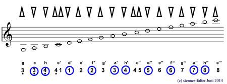 Mundharmonika 2 1/2 Oktaven - Solostimmsystem