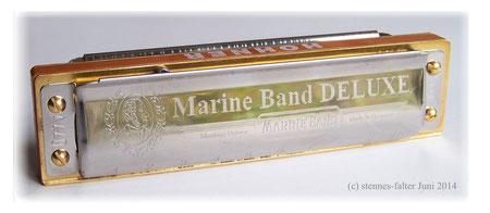 Mundharmonika in Richter Stimmung Bluesharp Hohner Marine Band DELUXE