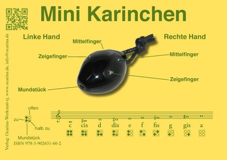 Grifftabelle Mini Karinchen (c) Okarinawerkstatt Rotter