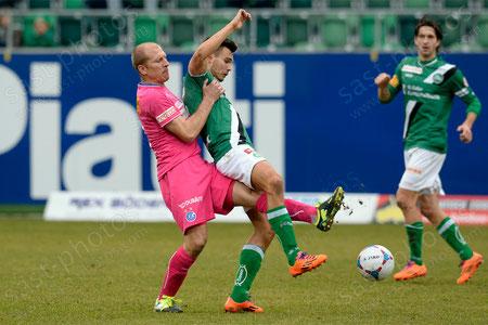 Stephane Grichting (L. GCZ) gegen Goran Karanovic (FCSG)