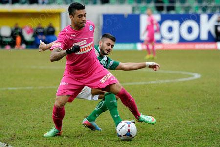 Alves dos Santos Caio (L. GCZ) gegen Dejan Janjatovic (FCSG)