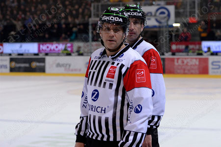 Stephane Rochette (L. Schiedsrichter) und Nadir Mandioni (Schiedsrichter)