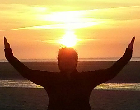 Ruhe und Kraft tanken beim Sonnenuntergang