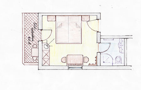 Sonnenstein - Doppelzimmer ca. 20m²