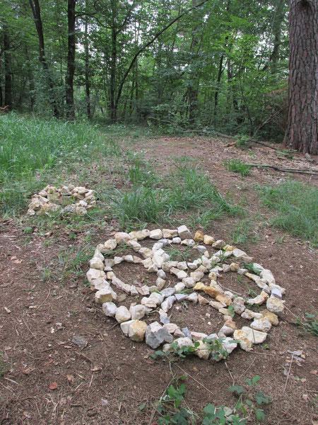 Der Traum-Kreis als Stein-Kreis nachgebildet.