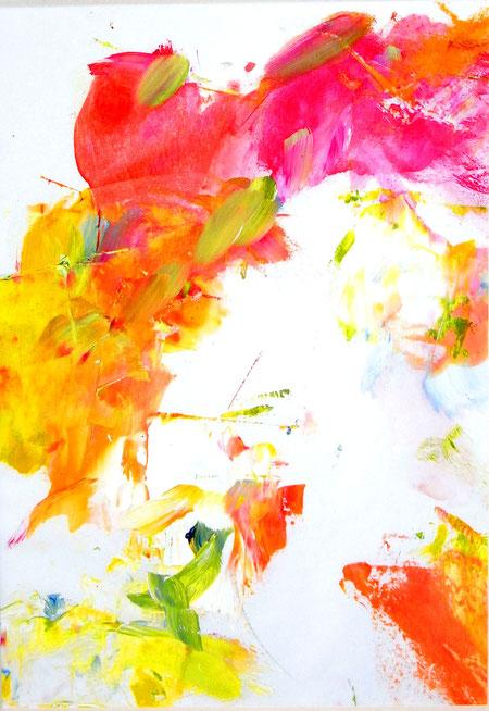 """Der Feuervogel""  Öl/Papier 30B x 50H cm"