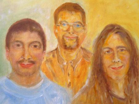 """""""Drei Brüder""""   Ölbild  60B x 50H cm"""