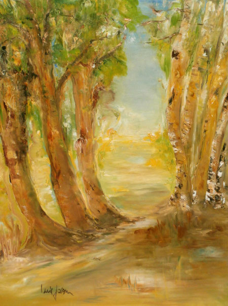 """Eppendorfer Moor""   100B x 120H cm   Ölbilder"
