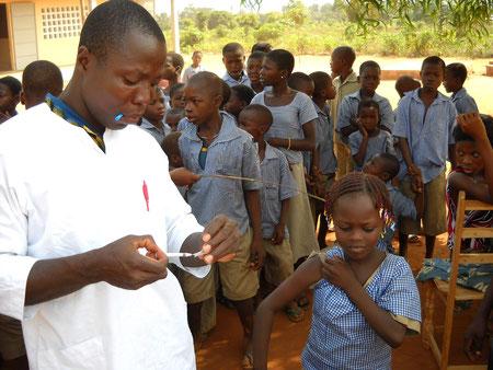 Impfaktion in Avéta