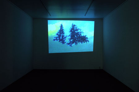 installation view of  'a lie before breakfast '                23min 25sec     2006 video