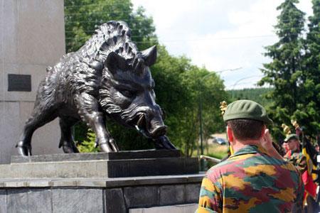 Monument der Ardennenjäger in Martelange.