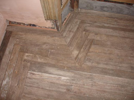 just laid floor pre sanding