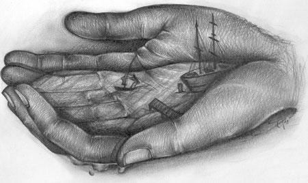 Hände im Hafen der Ehe
