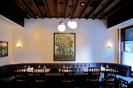 MaryAnn's 'The Wild Bunch' grace the walls at The Love restaurant in Philadelphia