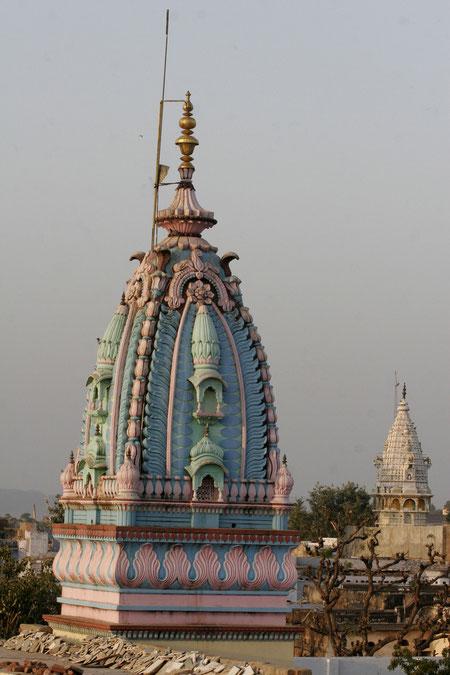 Blick vom Tempel