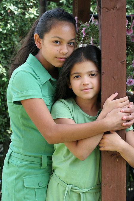 Geschwisterliebe Laura und Lenia
