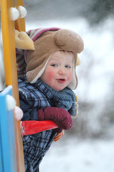 Luis im Schnee
