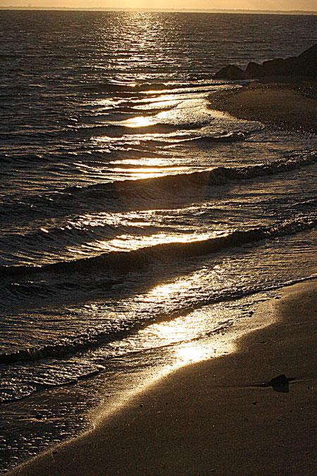 kleine Wellen am Abend