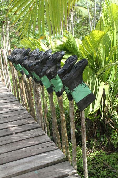 Gummistiefel für die Urwaldwanderung