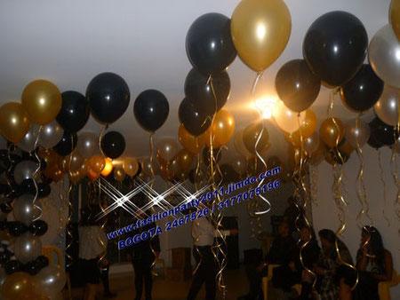 Decoracion con globos para cumplea os 40 50 y 60 a os for Decoracion con globos 50 anos