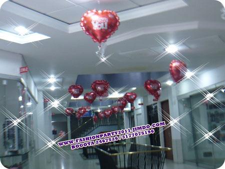 Globos de amor y amistad imagui for Decoracion amor y amistad oficina
