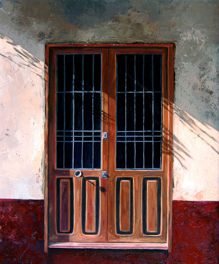 Puerta con sombra 2011, óleo sobre lienzo 55X46 cm