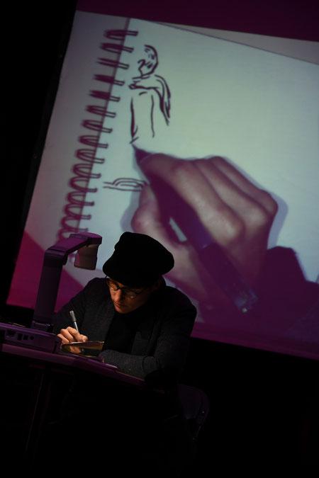 Live-drawings en el Helsinki Comic Festival.