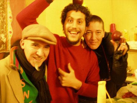 Francesco Baffa (al centro, Paola Pinto (a destra)