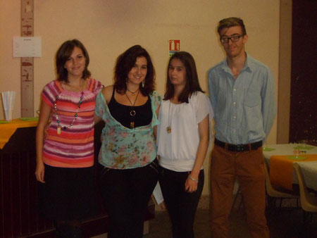 Annaëlle, Laura, Thifanie et Thomas ( photo Cyrine L.)