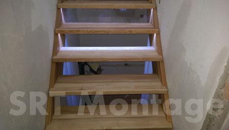 Maßgeschneiderte Tischlerarbeit - Treppe - SRT Montage Salzburg