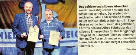 Zeitungsbericht im Bezirksblatt Amstetten