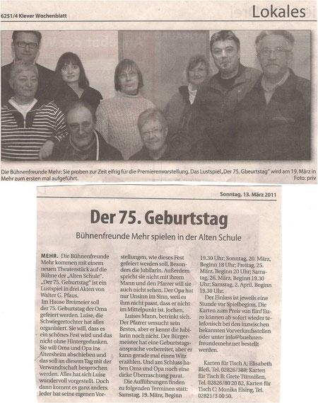 Klever Wochenbblatt 13.03.2011