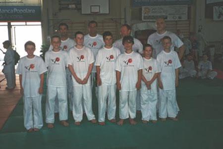 Yoshitaka Karate Club with Sensei Pinna