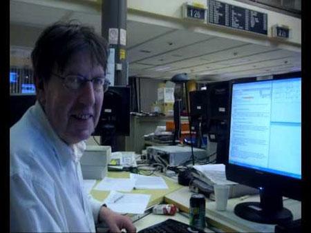 L'auteur dans son lieu de travail à l'AFP