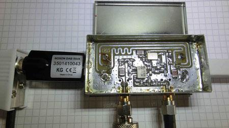 NOXON Stick + Konverter (Für die ganz Genauen: Kolophonium beeinträchtigt nicht die Funktion.)