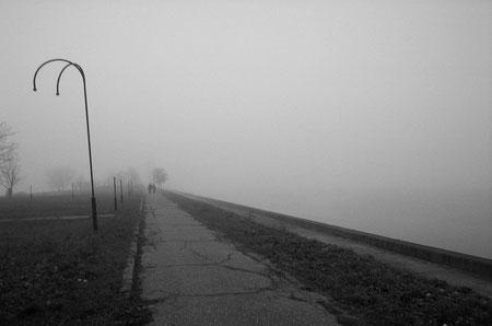 "LATVIA / Riga / From the book ""Auftakt"". Silhouettes in fog, 2006"