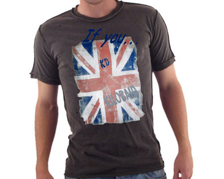 modello di t-shirt If you, english flag