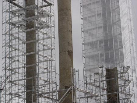 Réfection de pylônes électriques sinistrés par la RAG au Lac de Santa-Maria (Lucomagno)