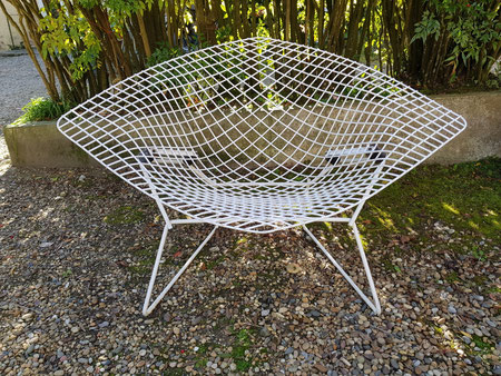 Harry Bertoia Fauteuil Diamand large édition Knoll 1956
