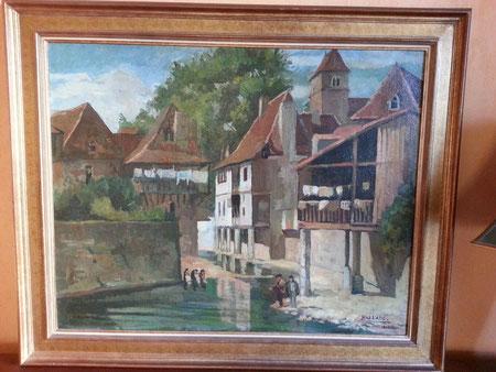 Pierre VALADE peinture salies de bearn 1932