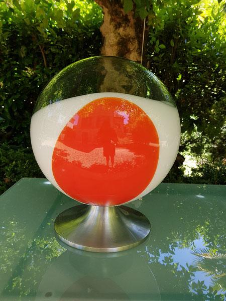 Lampe space age en verre de murano circa 1970 esperia angelo brotto