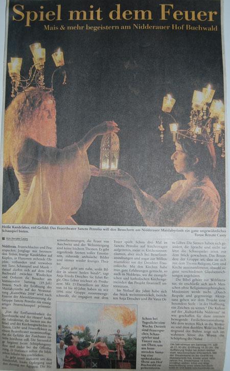 Frankfurter Neue Presse, 14. Juli 2006